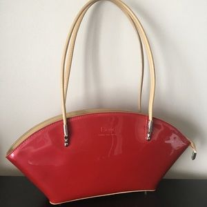 Beijo Red Over TheMoon Patent Purse LondonParis NY